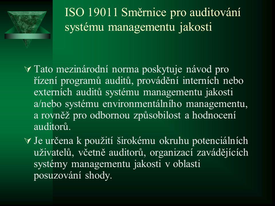 ISO 19011 Směrnice pro auditování systému managementu jakosti