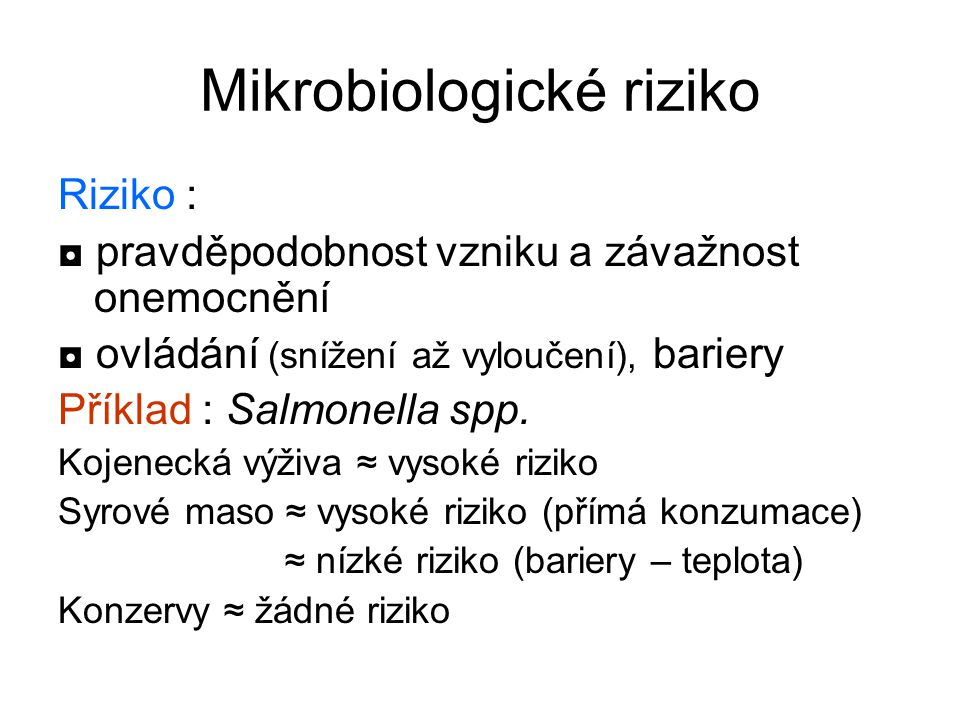 Mikrobiologické riziko