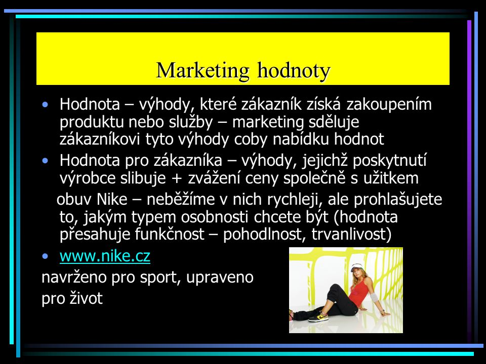 Marketing hodnoty