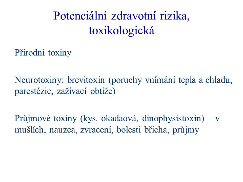 Potenciální zdravotní rizika, toxikologická