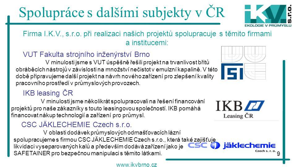 Spolupráce s dalšími subjekty v ČR
