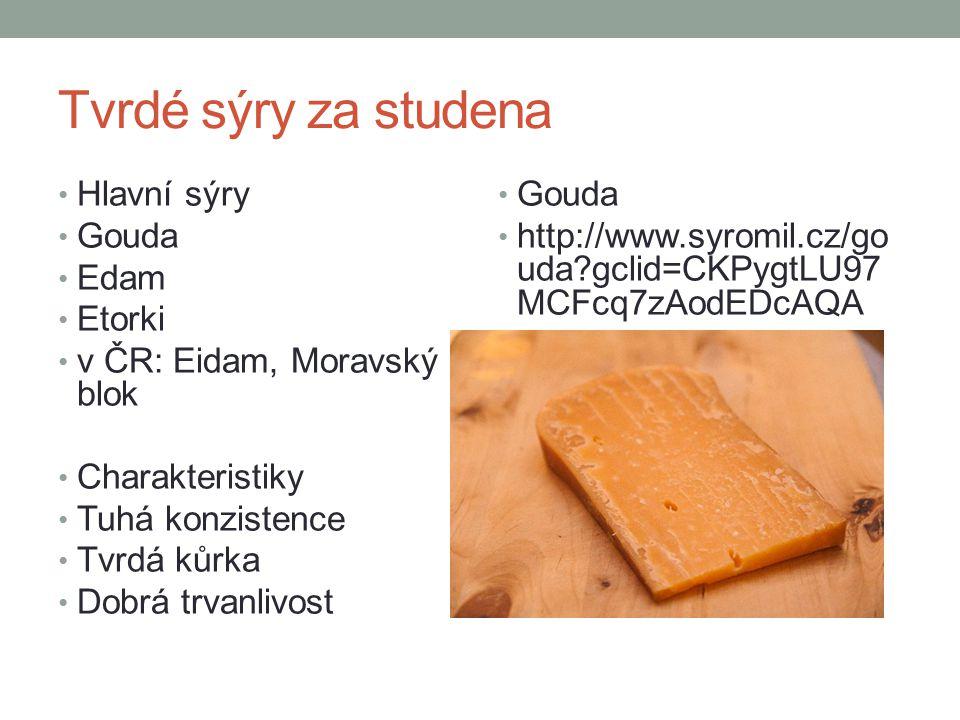 Tvrdé sýry za studena Hlavní sýry Gouda Edam Etorki