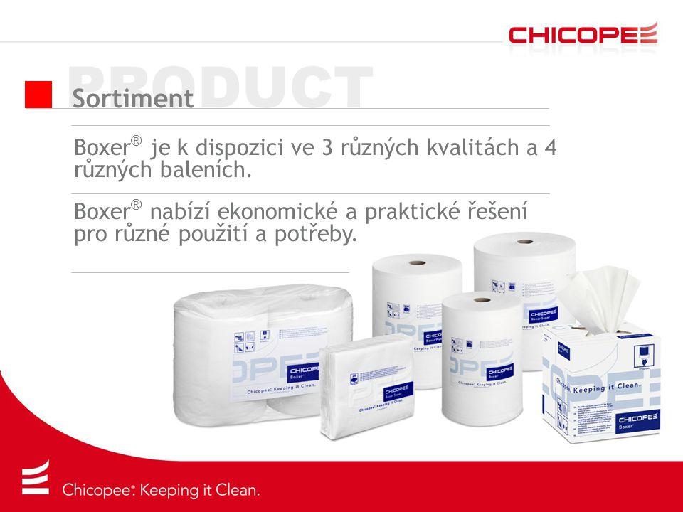 PRODUCT Sortiment. Boxer® je k dispozici ve 3 různých kvalitách a 4 různých baleních.