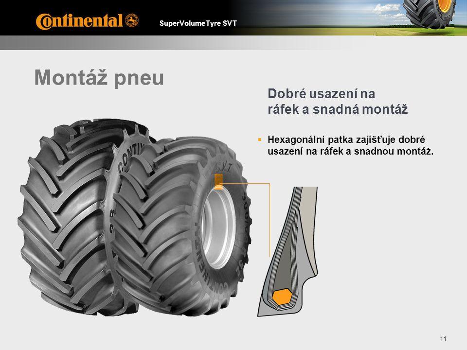 Montáž pneu Dobré usazení na ráfek a snadná montáž
