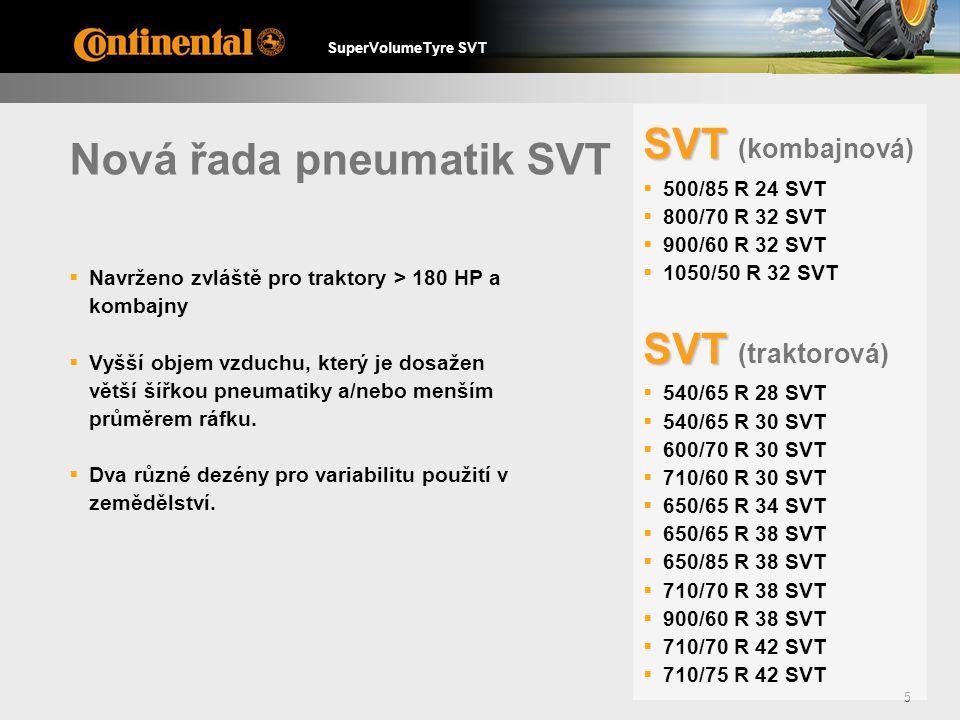 Nová řada pneumatik SVT