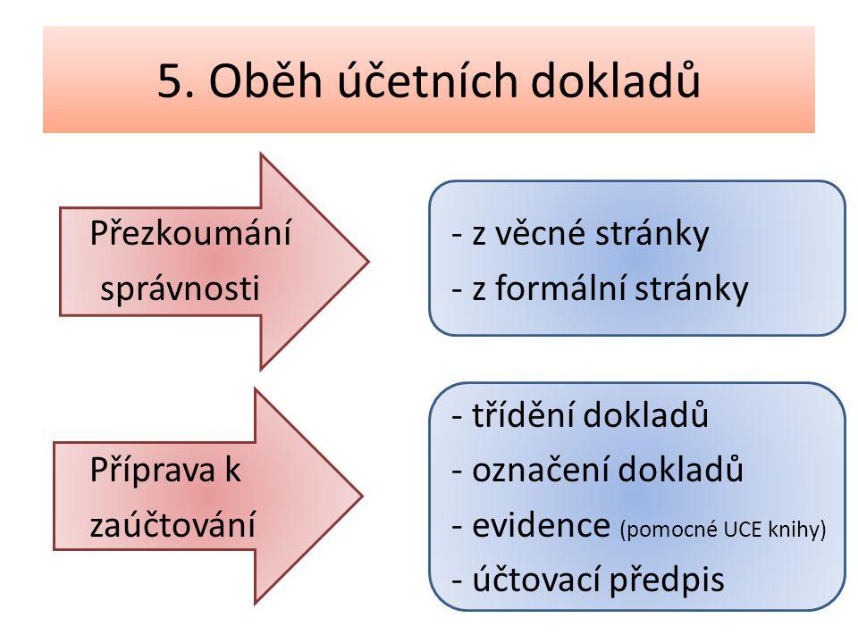 5. Oběh účetních dokladů