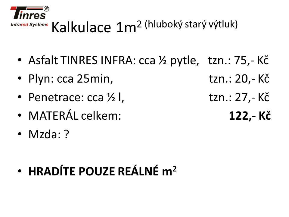 Kalkulace 1m2 (hluboký starý výtluk)