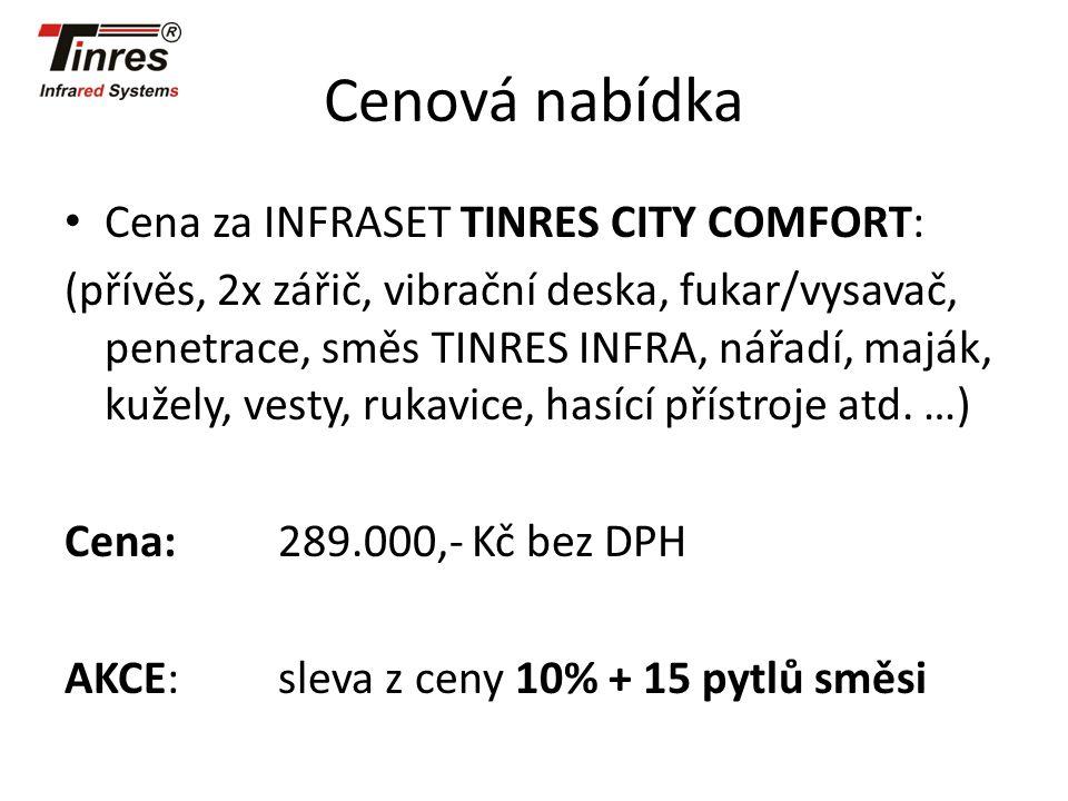 Cenová nabídka Cena za INFRASET TINRES CITY COMFORT: