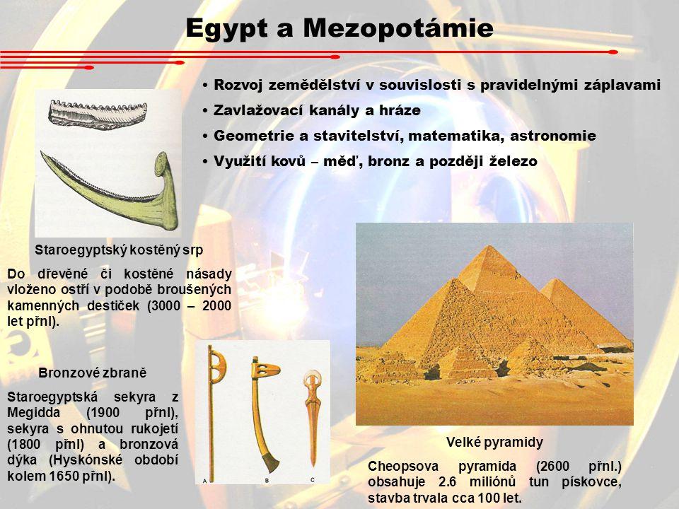 Staroegyptský kostěný srp