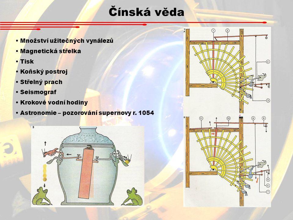 Čínská věda Množství užitečných vynálezů Magnetická střelka Tisk