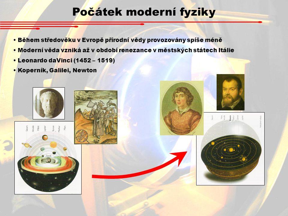 Počátek moderní fyziky