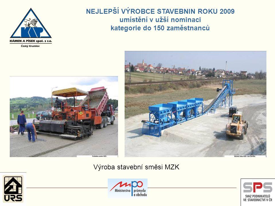 Výroba stavební směsi MZK