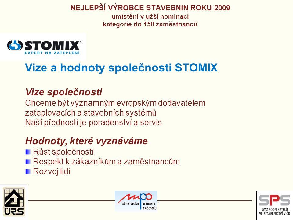 Vize a hodnoty společnosti STOMIX