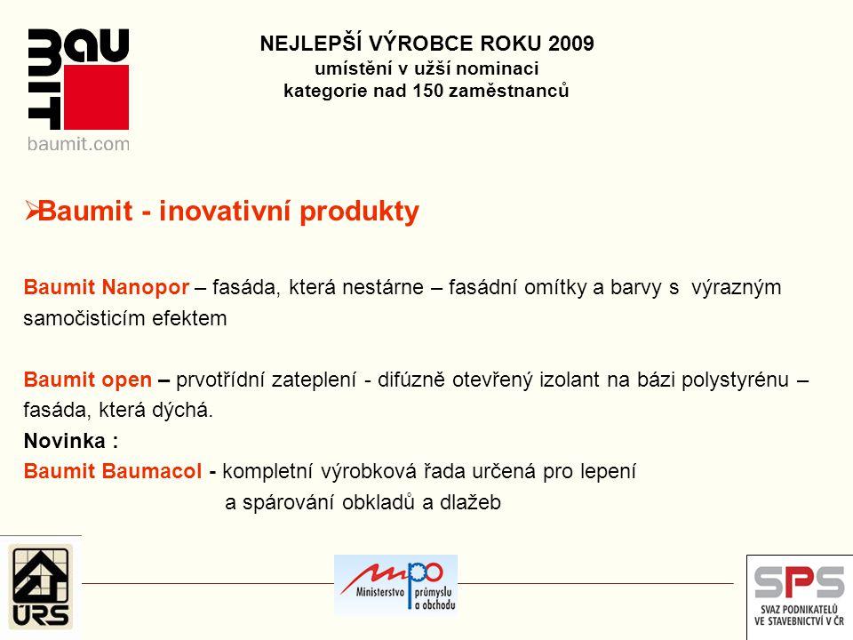 Baumit - inovativní produkty