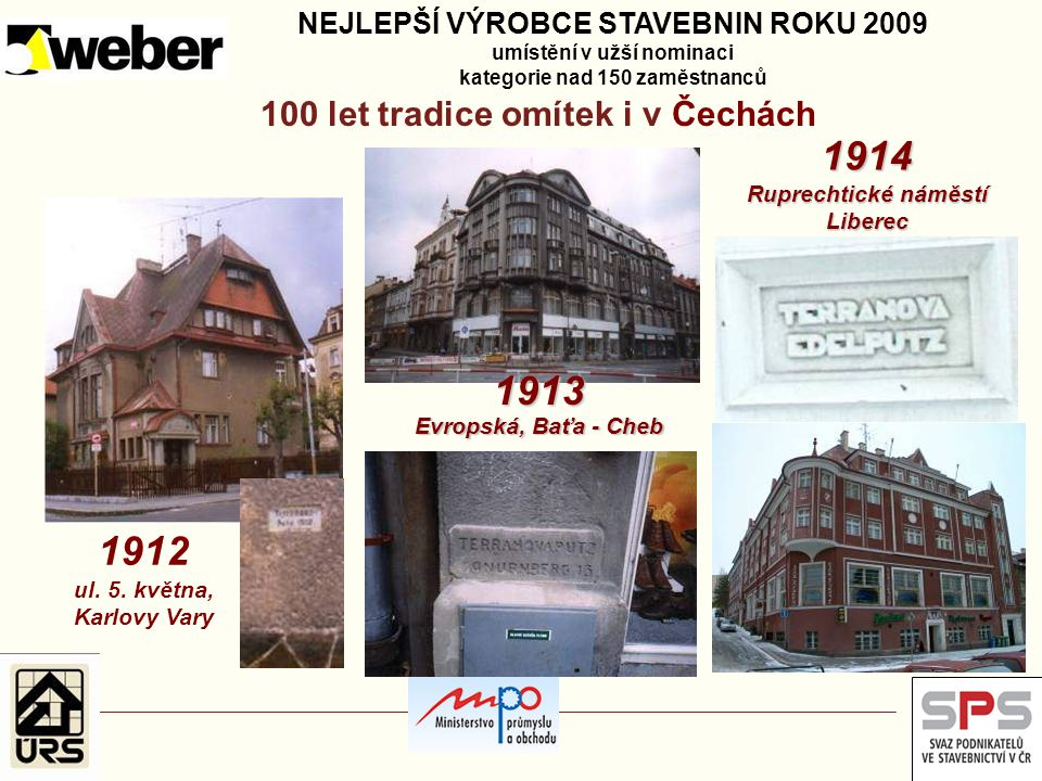100 let tradice omítek i v Čechách