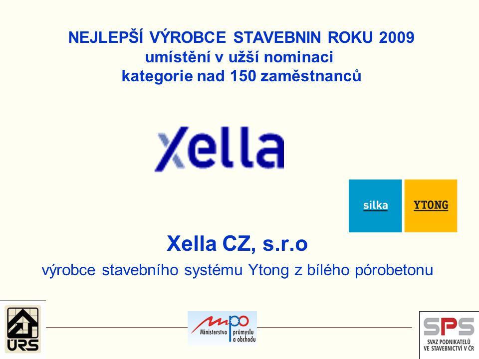 Xella CZ, s.r.o výrobce stavebního systému Ytong z bílého pórobetonu
