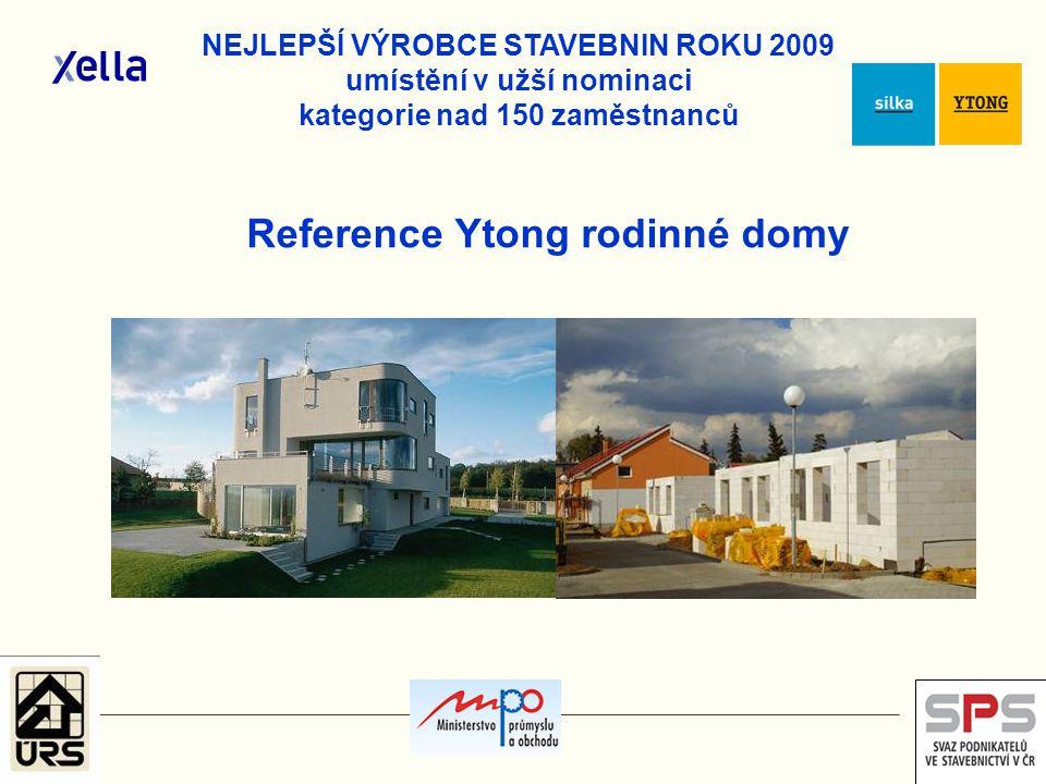 Reference Ytong rodinné domy