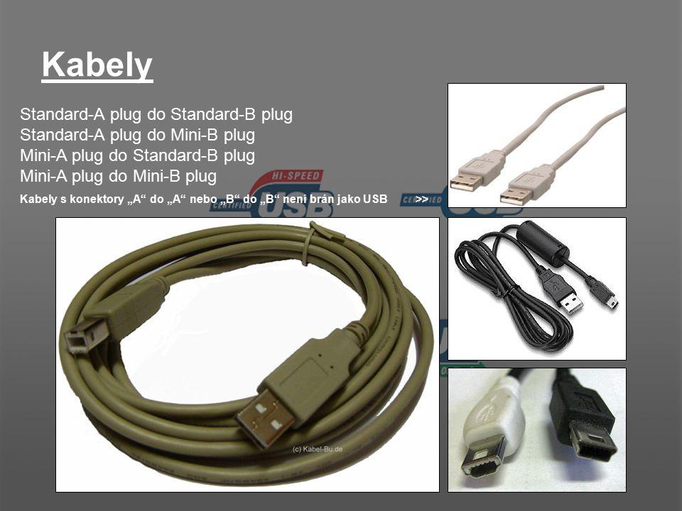 Kabely Standard-A plug do Standard-B plug
