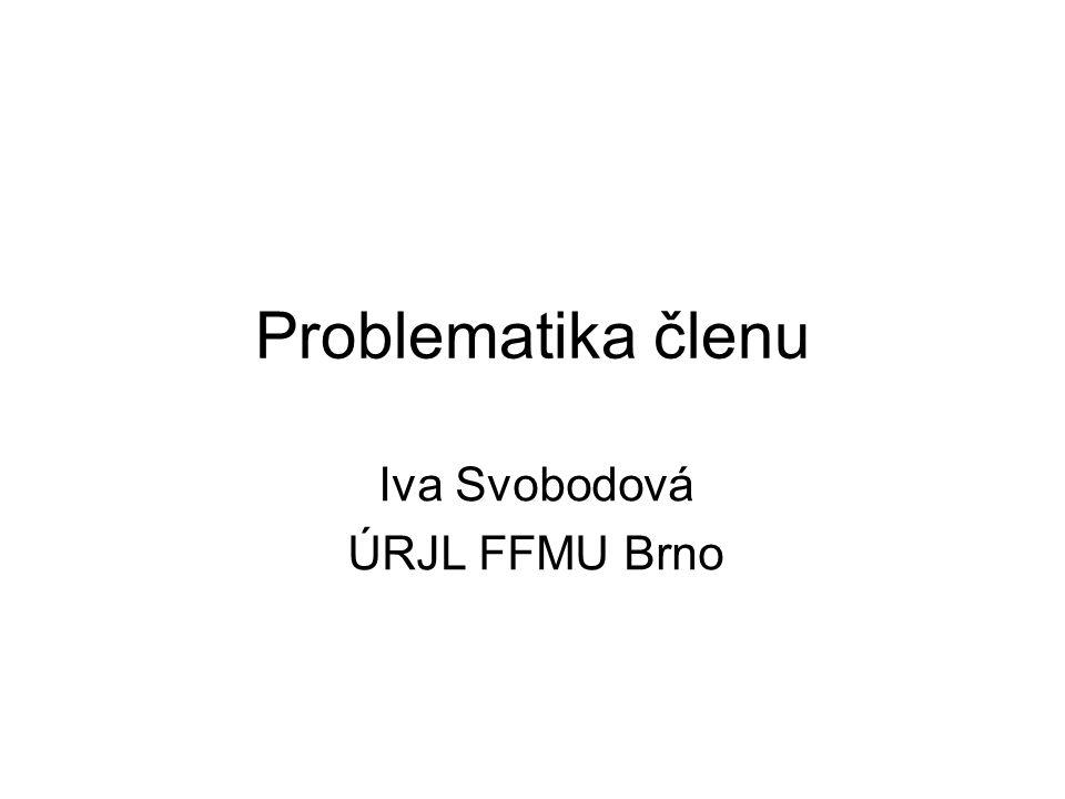 Iva Svobodová ÚRJL FFMU Brno