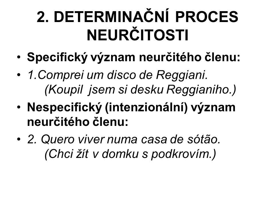 2. DETERMINAČNÍ PROCES NEURČITOSTI