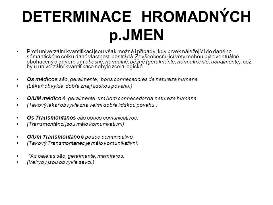 DETERMINACE HROMADNÝCH p.JMEN