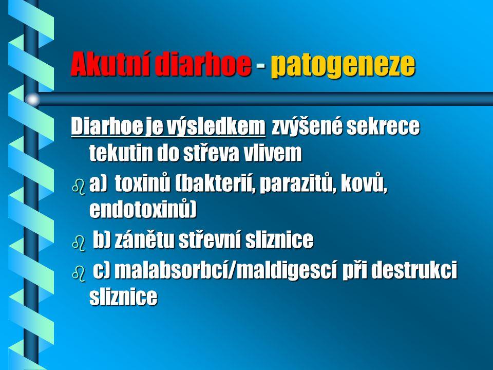 Akutní diarhoe - patogeneze