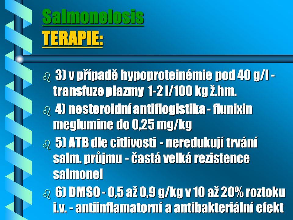 Salmonelosis TERAPIE: