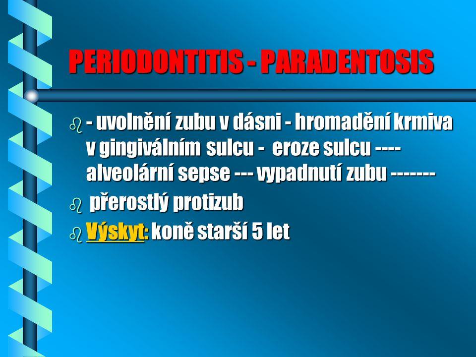 PERIODONTITIS - PARADENTOSIS