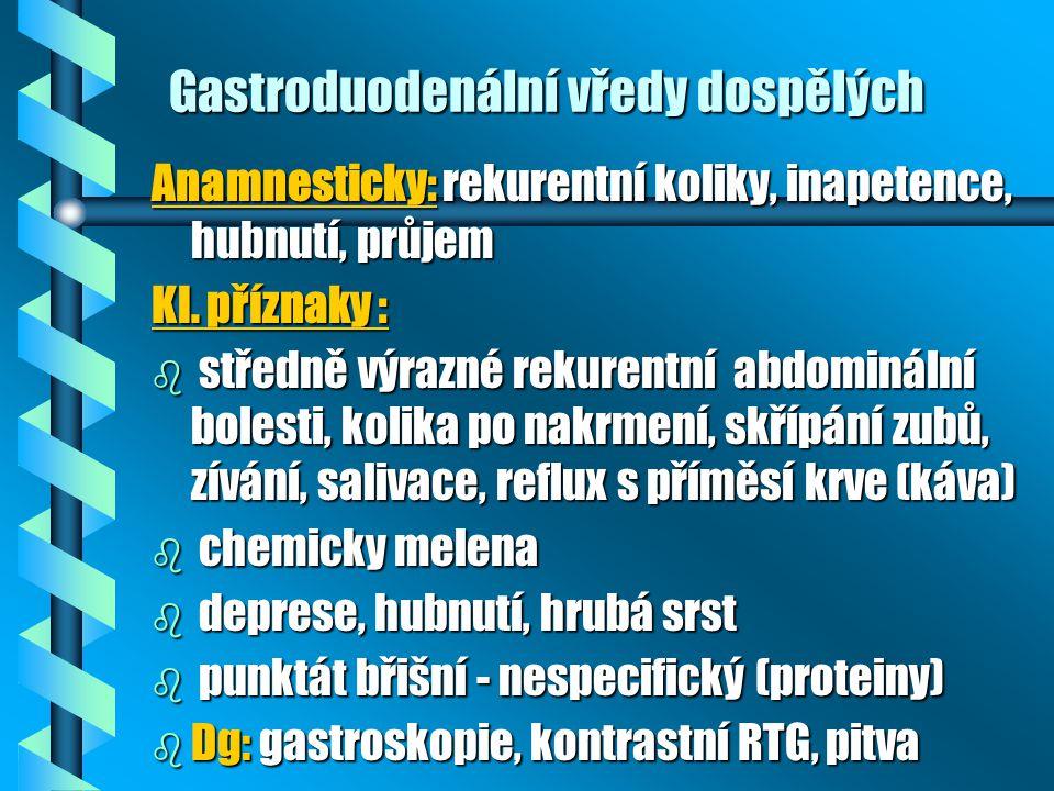 Gastroduodenální vředy dospělých