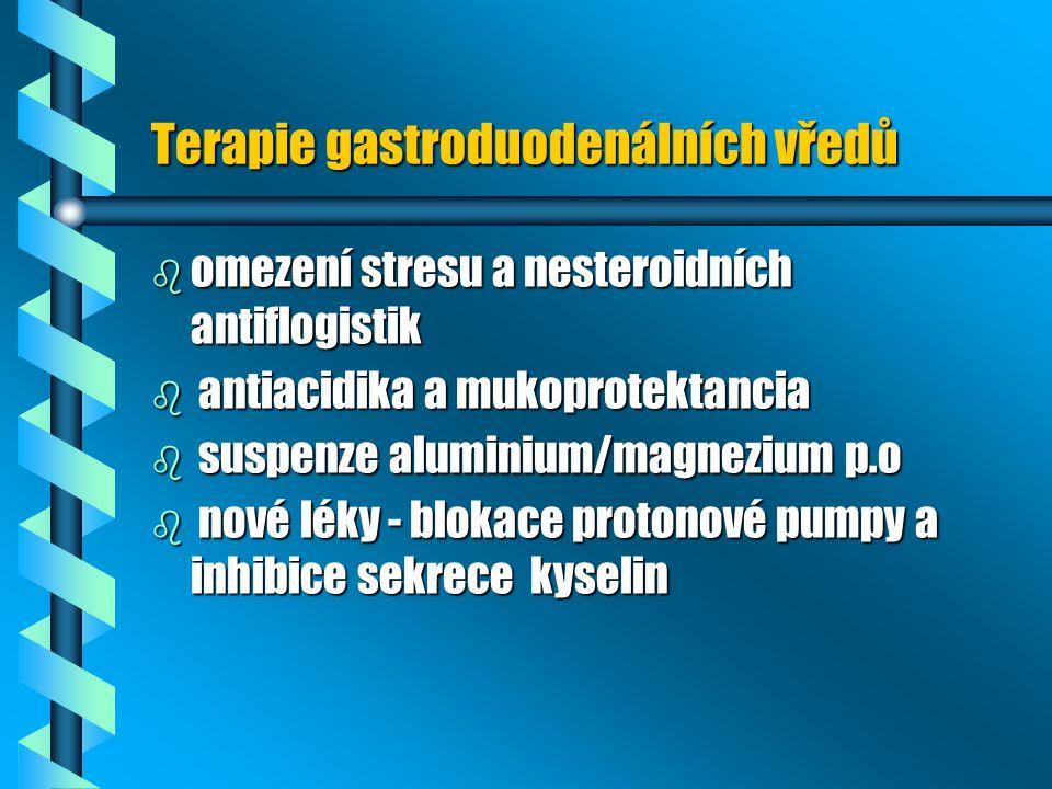 Terapie gastroduodenálních vředů