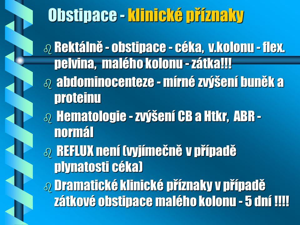 Obstipace - klinické příznaky