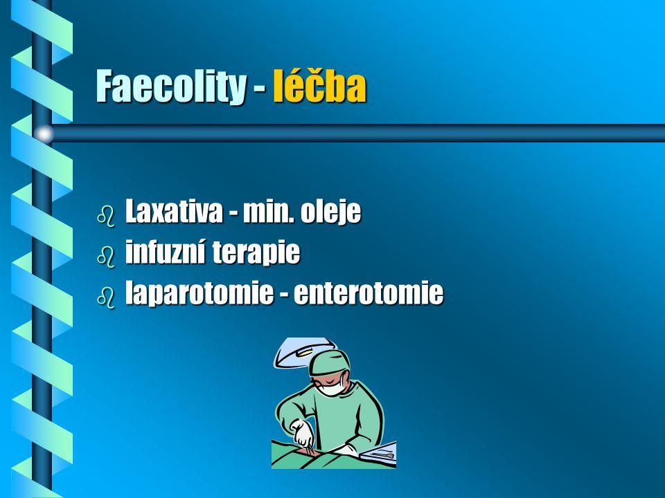 Faecolity - léčba Laxativa - min. oleje infuzní terapie