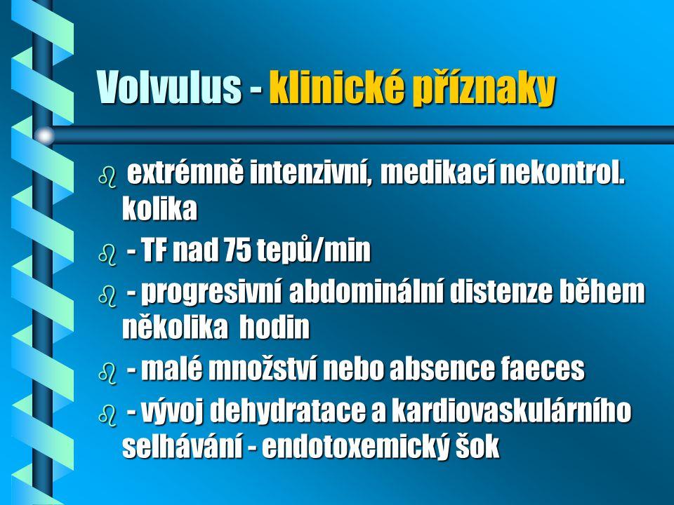 Volvulus - klinické příznaky