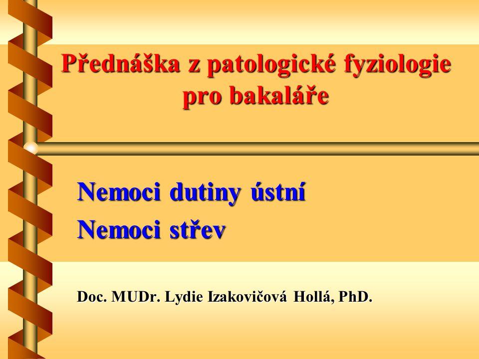 Přednáška z patologické fyziologie pro bakaláře