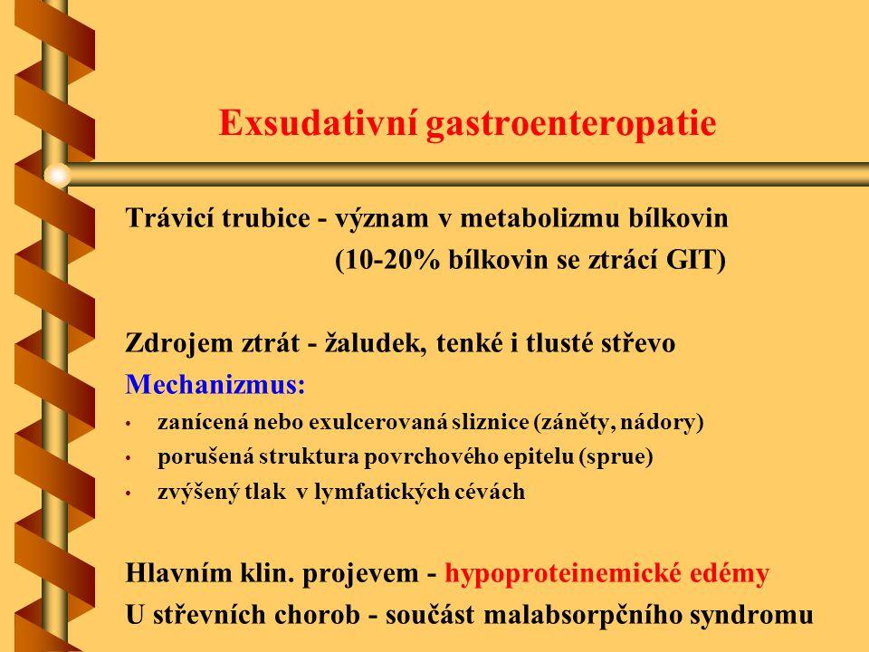 Exsudativní gastroenteropatie