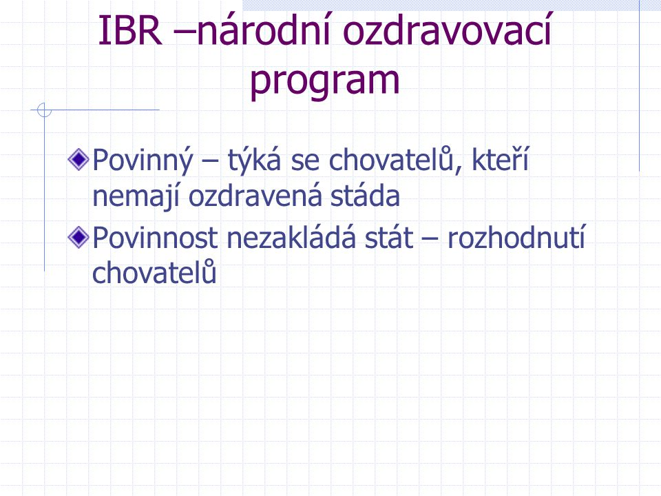 IBR –národní ozdravovací program