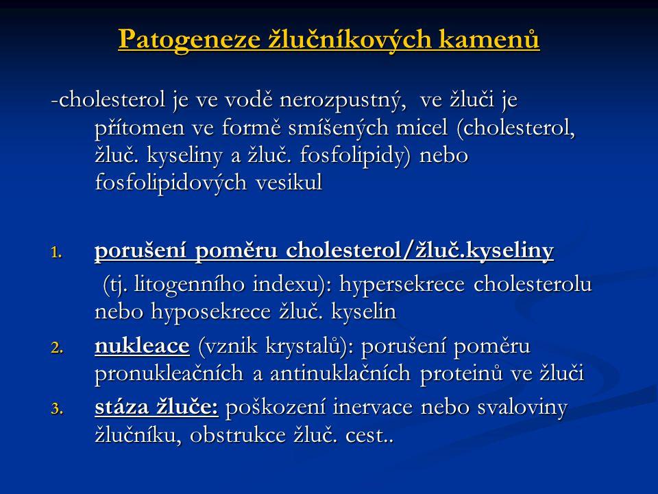 Patogeneze žlučníkových kamenů