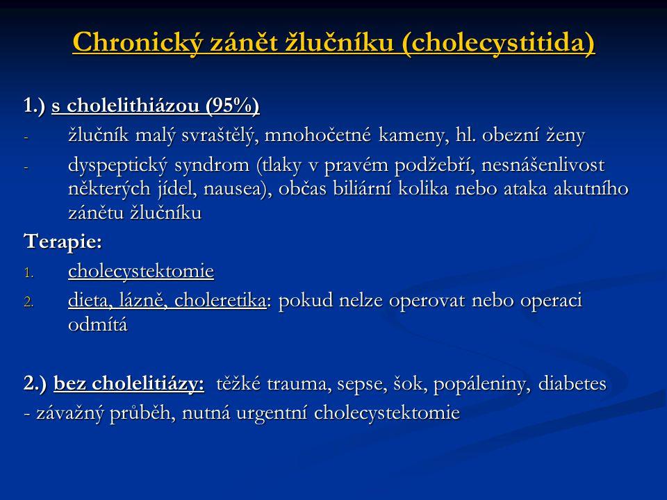Chronický zánět žlučníku (cholecystitida)