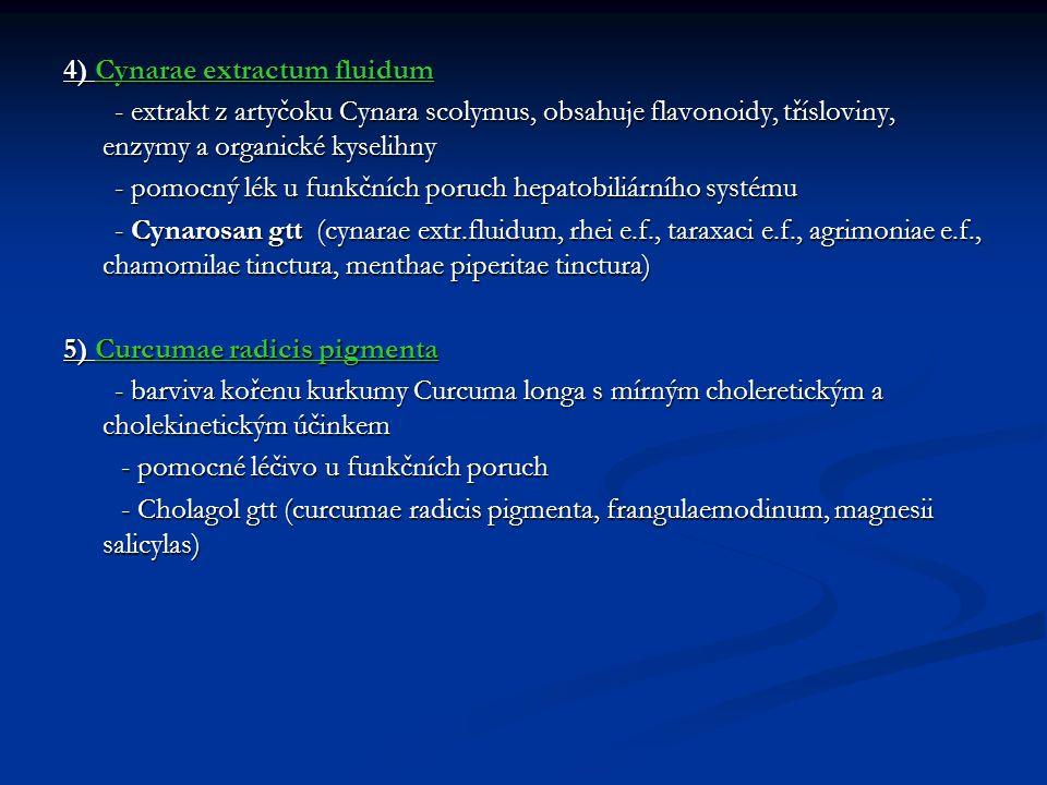 4) Cynarae extractum fluidum