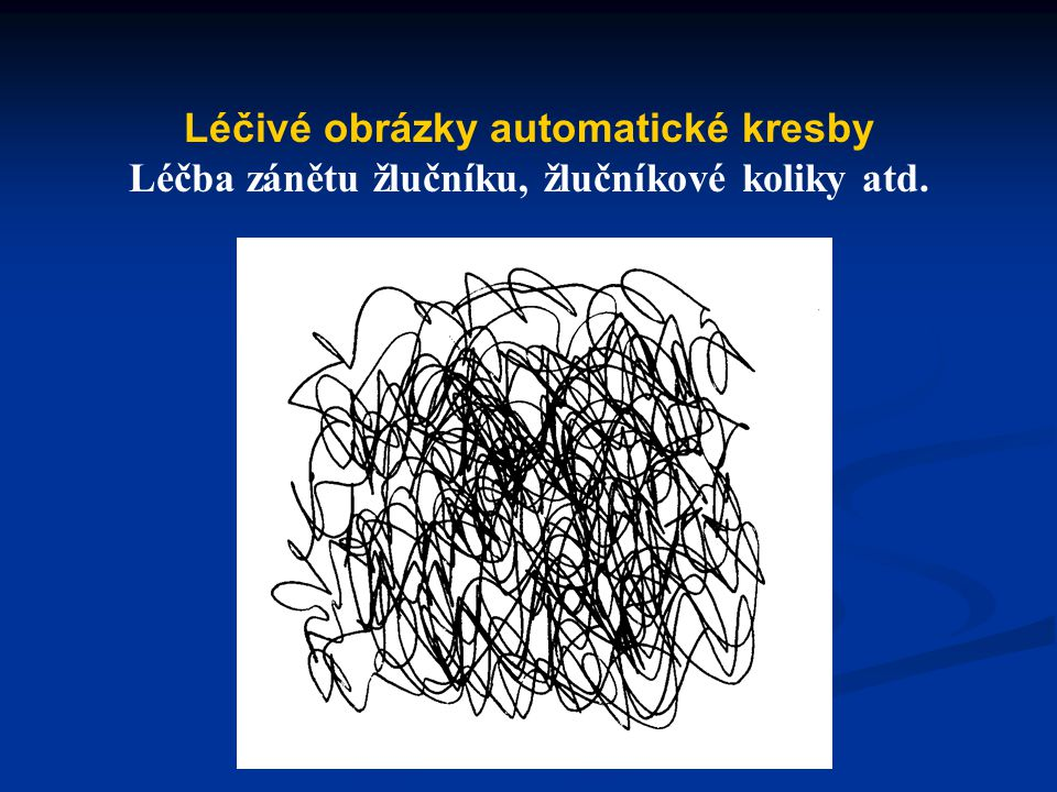 Léčivé obrázky automatické kresby