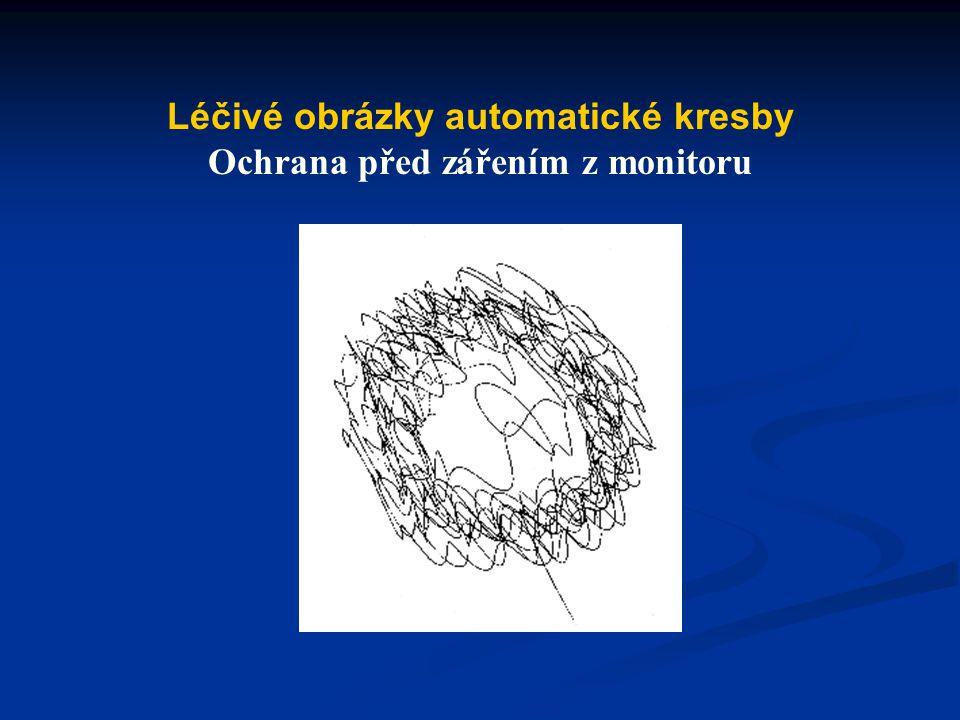 Léčivé obrázky automatické kresby Ochrana před zářením z monitoru