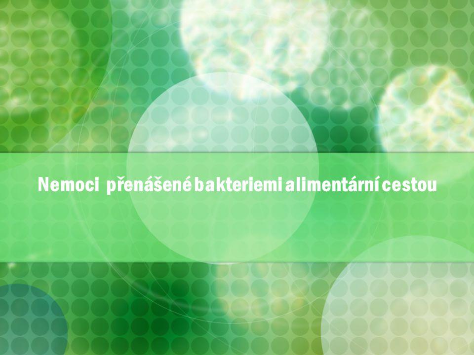 Nemoci přenášené bakteriemi alimentární cestou