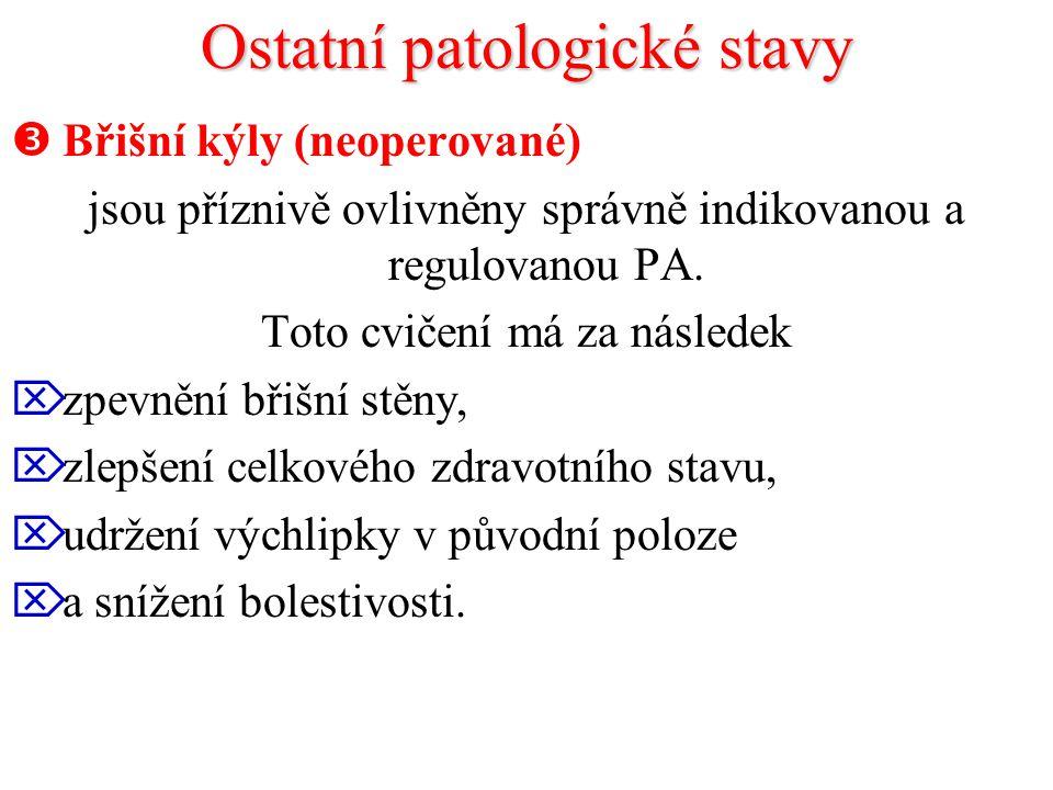 Ostatní patologické stavy