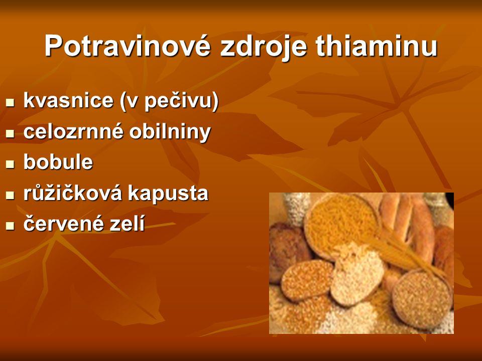 Potravinové zdroje thiaminu