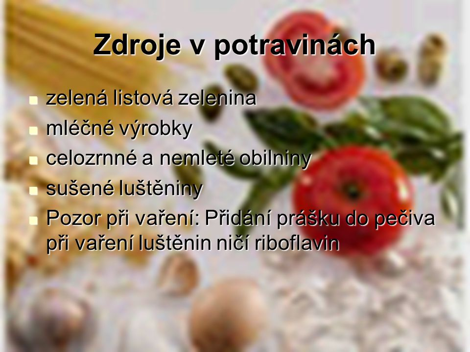 Zdroje v potravinách zelená listová zelenina mléčné výrobky