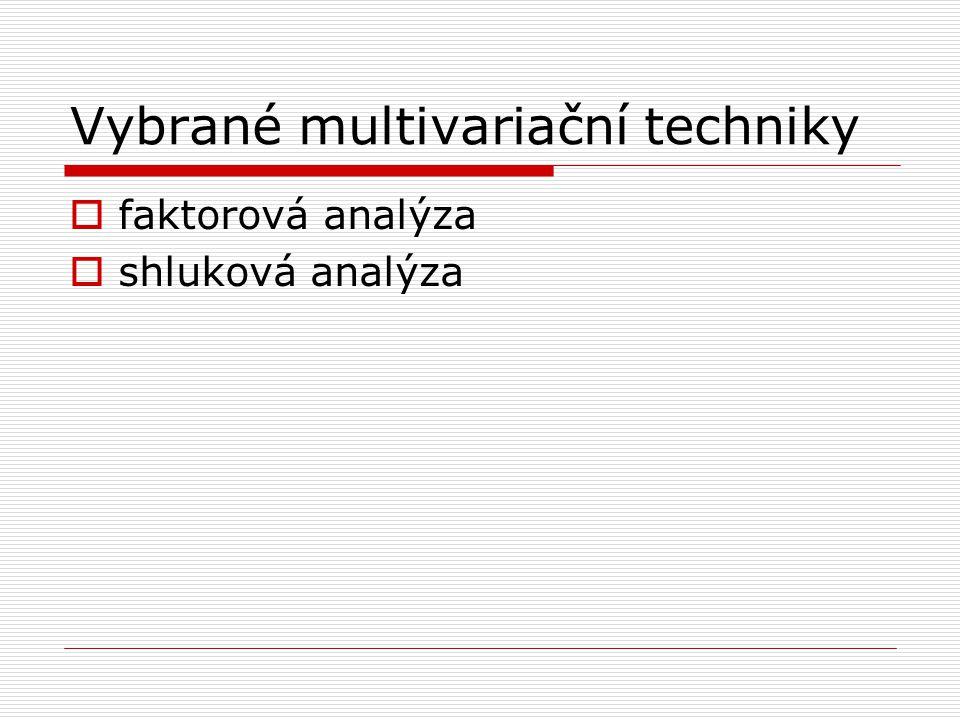 Vybrané multivariační techniky