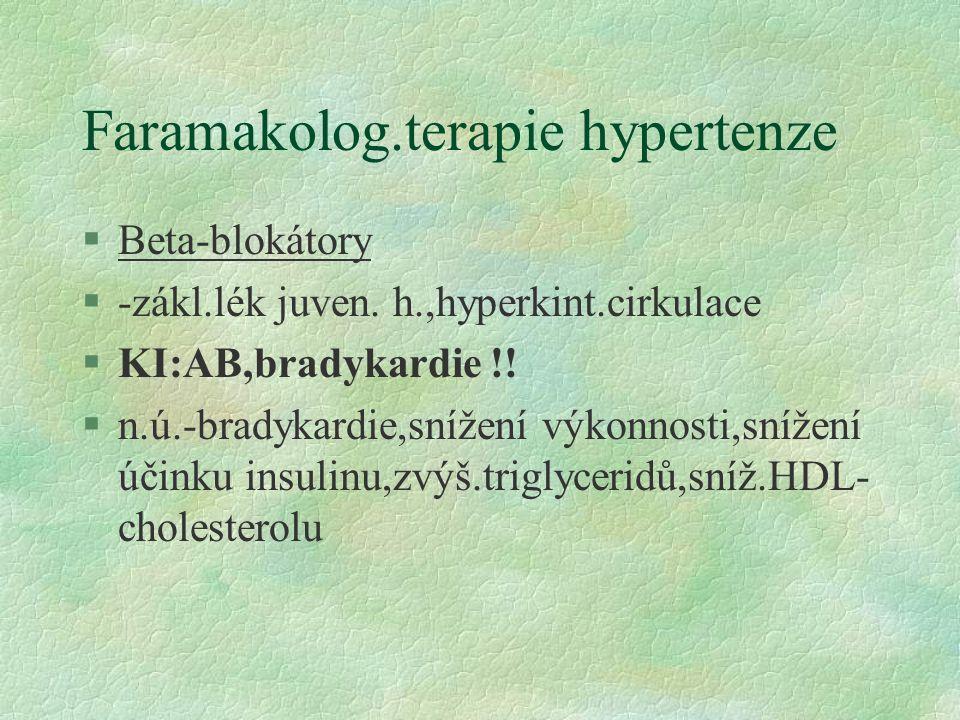 Faramakolog.terapie hypertenze