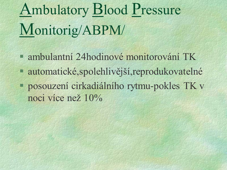 Ambulatory Blood Pressure Monitorig/ABPM/