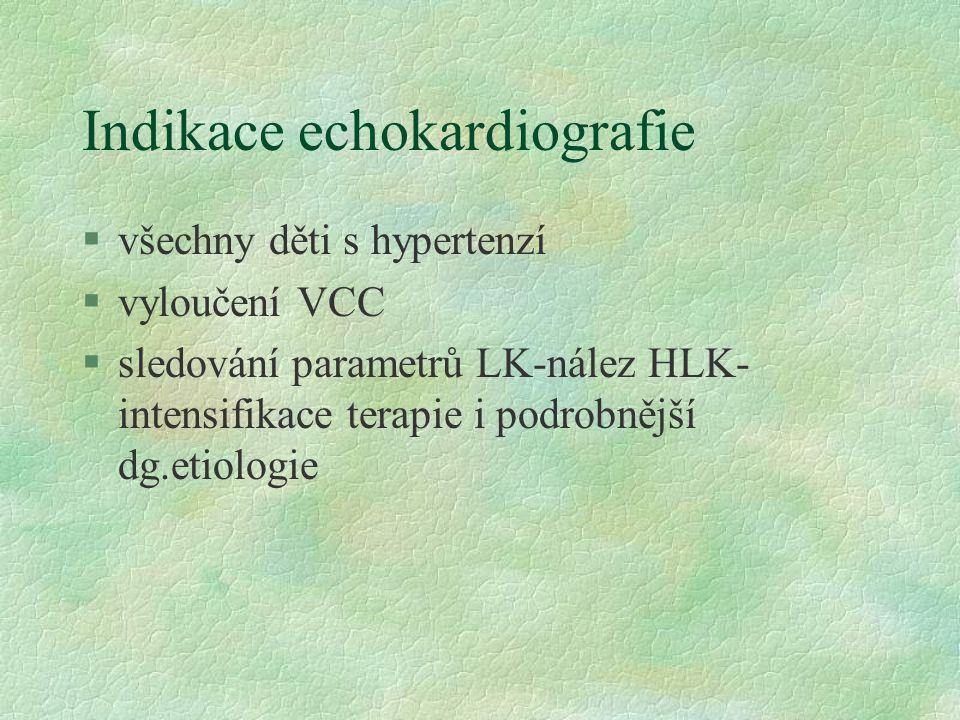 Indikace echokardiografie