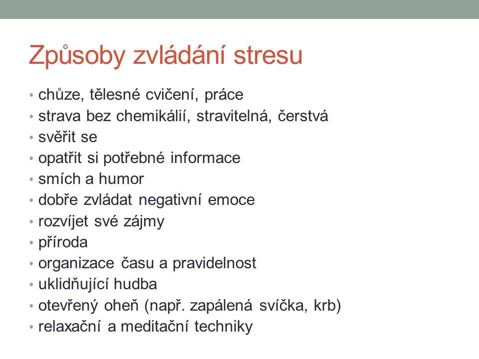 Způsoby zvládání stresu